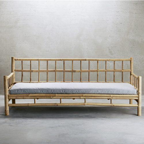 Bambuset Soffa 2 st Fåtöljer Bord-7154