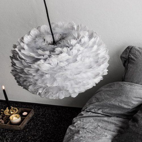 Eos Fjäderlampa Grey-7419