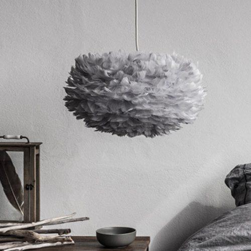 Eos Fjäderlampa Grey-0