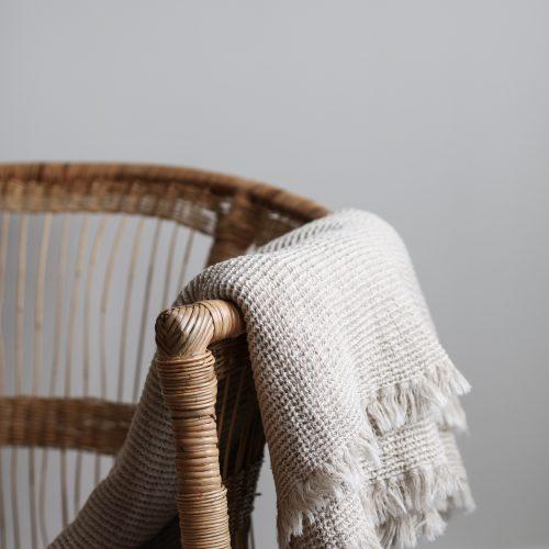 Tell me more Calma cotton/linen blanket-0