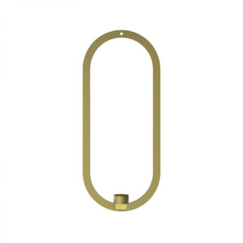 Cooee Design Oval Hanging Brass-0