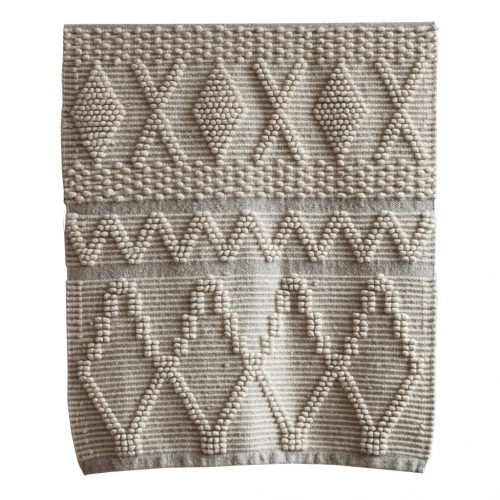 Tell me more Oyster wool/linen rug-8356