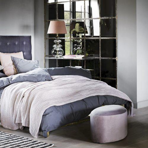 Tine K Home Sammetspuff oval-0