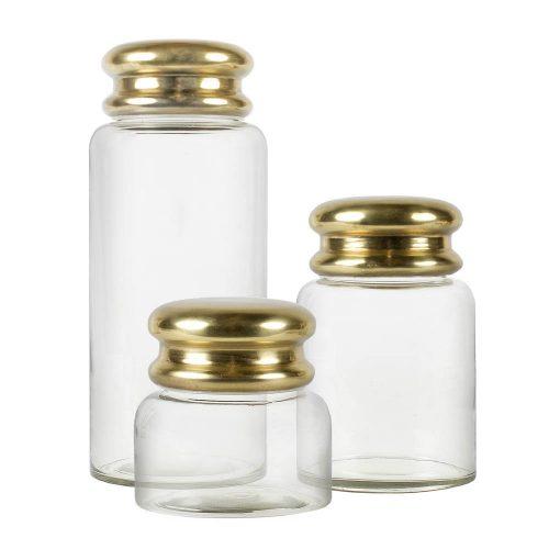 Glasburk med guldlock-0