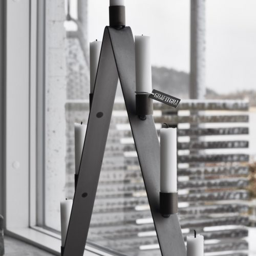 Adventsljusstake grå-8976