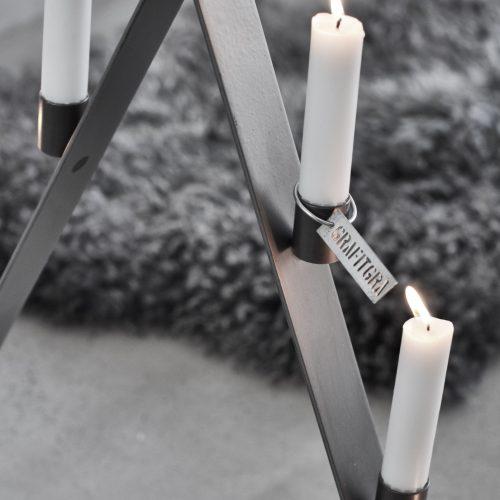 Adventsljusstake grå-8971