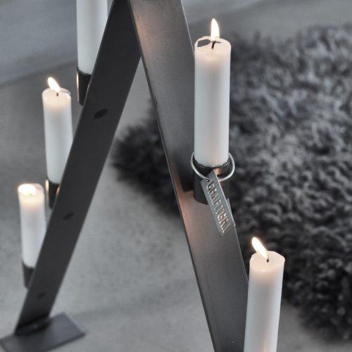 Adventsljusstake grå-8973