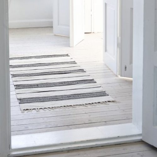 Stripe cotton rug - 80x150-0