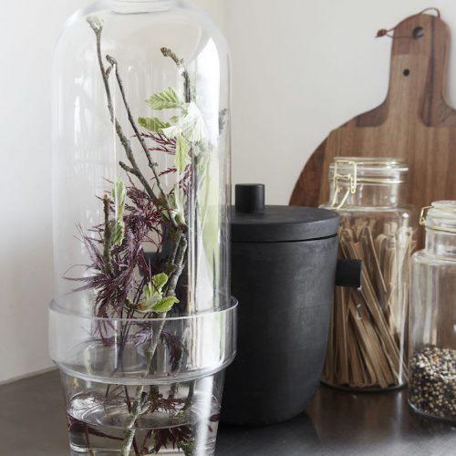 House Doctor Glasklocka med blomlåda-9451