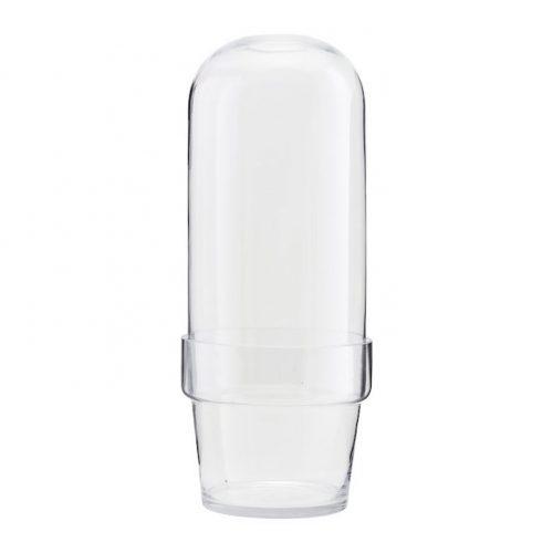 House Doctor Glasklocka med blomlåda-0