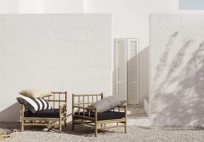 Bambukollektion från Tine K Home är en handgjord serie av utemöbler så som loungemöbler, matmöbler och solbäddar.